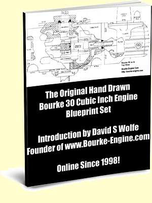 Bourke Engine Hand Drawn 30 cubic inch Blueprints